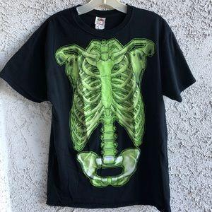 Men's glow in the dark skeleton T-shirt